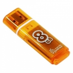 USB накопитель Smartbuy 8GB Glossy series Orange (SB8GBGS-Or)