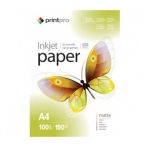 PME190100A4 Струйная бумага  PrintPro Photo paper matte 190g/m, A4, 100pc.