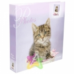 Фотоальбом 500ф 10X15см, ПП карм, пер-т 3-кольца, r/h:lovely kittens, BIG DOG™, фиолетовый