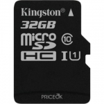 micro SDHC карта памяти Kingston 32GB cl10 UHS-I Canvas Select up to 80MB/s с адапт. (SDCS/32GB)