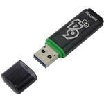 USB 3.0 накопитель Smartbuy 64GB Glossy series Dark Grey (SB64GBGS-DG)