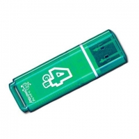 USB накопитель Smartbuy 4GB Glossy series Green