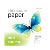 PGE2305004R Струйная бумага  PrintPro Photo paper glossy 230g/m, 10x15, 500pc.
