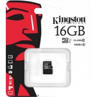 micro SDHC карта памяти Kingston 16GB Class10 UHS-I 45MB/s с адаптером (SDC10G2/16GB)