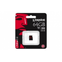 micro SDXC  карта памяти Kingston 64GB Class10 UHS-I U1  R/W 90/45 MB/s без адаптера (SDCA10/64GBSP)