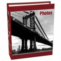 Фотоальбом 200ф 10X15см, ПП карм., bridges, EA™, красный
