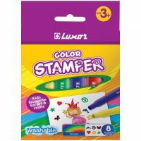 "Фломастеры-штампы ""Color Stamper"" 08цв., картон. уп., европодвес 6130/Box 8"