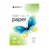 PGE180100A4 Струйная бумага  PrintPro Photo paper glossy 180g/m, A4, 100pc.