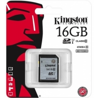 Карта памяти Kingston  SDHC 16-Gb Class-10 uhs-i 45MB/s