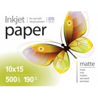 PME1905004R Струйная бумага  PrintPro Photo paper matte 190g/m, 10x15, 500pc.